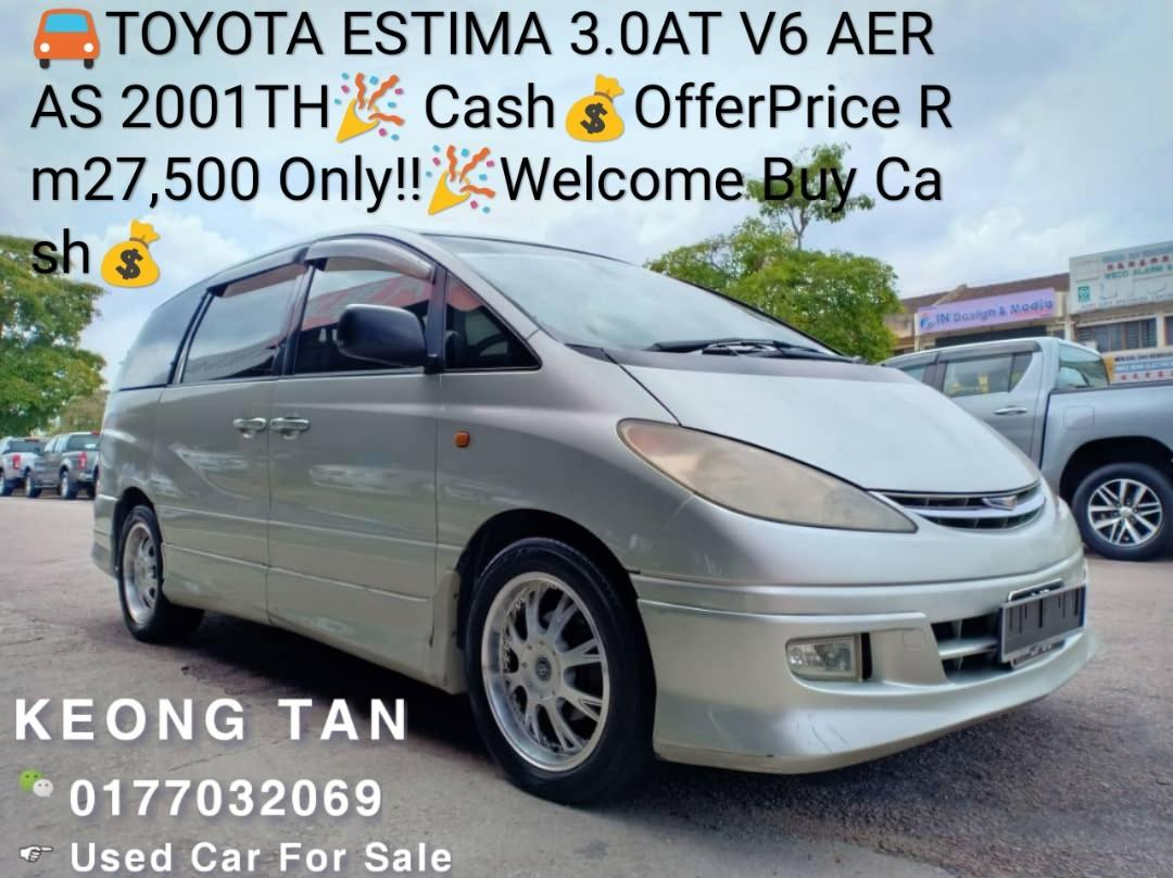 TOYOTA ESTIMA 3.0AT V6 AERAS 2001TH🎉 Cash💰OfferPrice Rm27,500 Only!!🎉