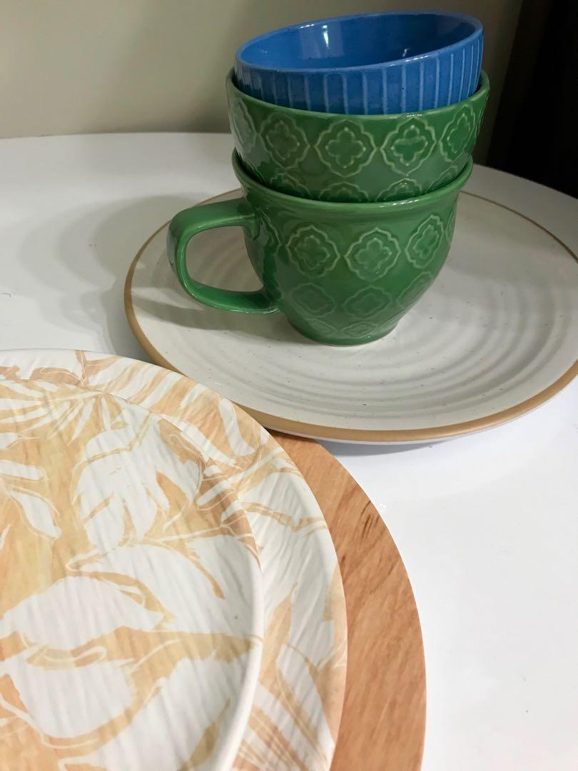 TROPICAL DINING SET - BOWL / CUPS / PLATES