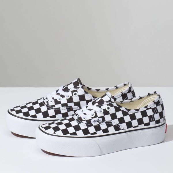 vans authentic platform 2.0 checkerboard sneaker