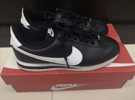 Nike Cortez Basic Leather Black & White