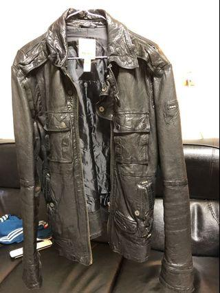Diesel 皮衣 黑色 size: M