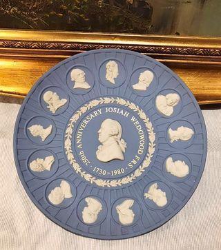 Wedgwood Jasper *現低於估價出售*1980年限量浮雕碧玉創始人250周年紀念瓷盤21cm