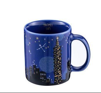 台灣 Starbucks 星巴克 台北101 限定版 黑夜 星空 星夜 馬克杯 3oz