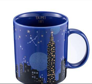 台灣 Starbucks 星巴克 台北101 限定版 黑夜 星空 星夜 馬克杯 16oz