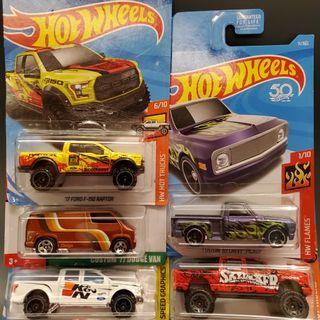 Pick up truck collections Hot Wheels
