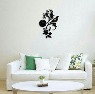 🌟PM for price🌟 🍀Bird & Flower Acrylic Wall Clock🍀
