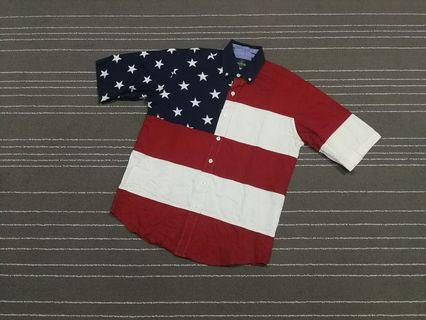 United States of America flags shirt SIZE M