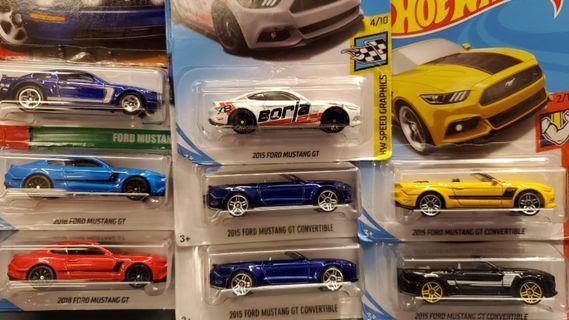 Hot Wheels mustang collections