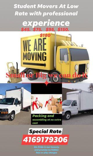 Moving, Movers, Helpers available to help move your belongings