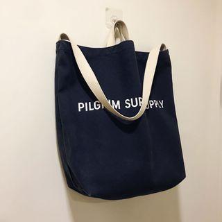 [ 已售出 ]二手Pilgrim Surf+Supply帆布托特包 肩背包 深藍 / Pilgrim Surf+Supply Tote Bag Navy
