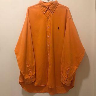 [ 已售出 ]古著POLO長袖襯衫 橘色 / Polo Ralph Lauren Vintage Shirt Orange