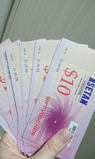 Isetan Vouchers $200 (in $10 denominations)