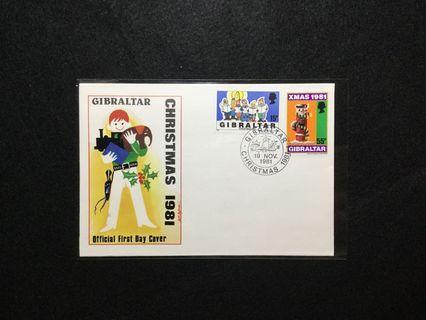 1981 Gibraltar Christmas 1981 FDC #MGAG101
