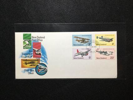 1974 New Zealand Air Transport FDC #MGAG101