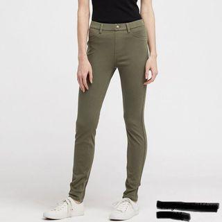 heattech olive leggings pants