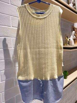Sleeveless Top Rib Knit