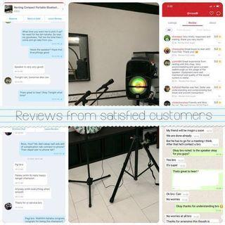 Renting portable speaker