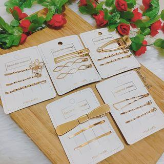 Gold Hair clips and Hairpins