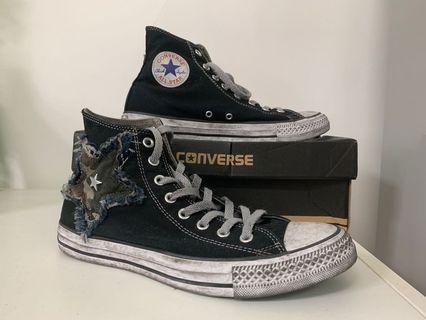 Converse All Star chuck Vintage limited edition 限量版迷彩星星洗水造舊復古