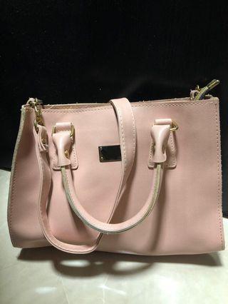 Small pink handbag