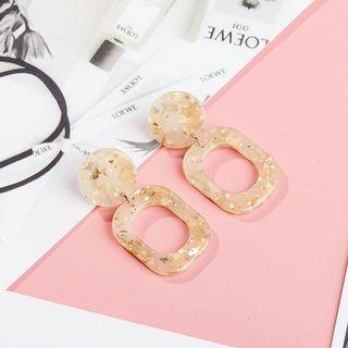 Square Drop Resin Earrings