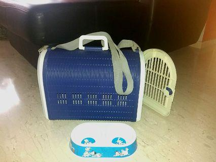 Sales! Seldom Use Less Than 5 times Big Dog Carrier with Free Food Dish