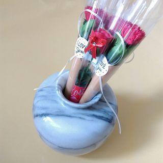 二手大理石花紋擺飾花瓶