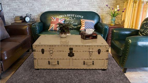 PU leather Trunk Coffee Table