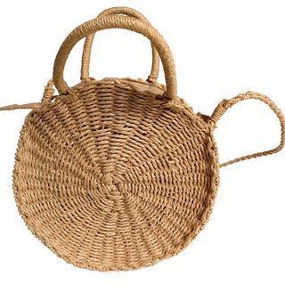 Rattan straw round sling/hand Bag (PO)