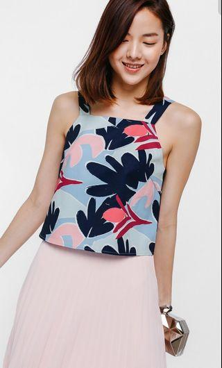 LB Tolanga Printed Boxy Top in Blue