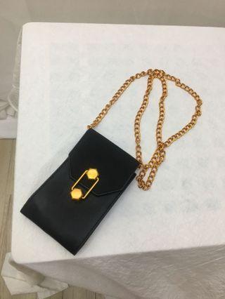 全新個性鏈條黑色手機包包