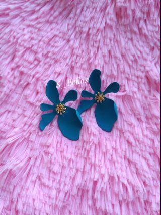 Flower Candy Earrings Blue