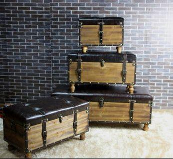 🚚 Wooden Trunk box/Storage seat
