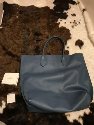 Mulberry blossom tote steel blue