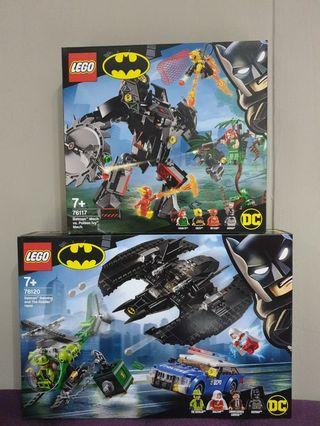 🚚 76120 & 76117 Lego Batman Batwing and The Riddlee Heis and Mech Vs Poison Ivy