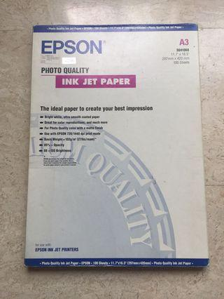 Epson Photo Quality Ink Jet Paper (A3) - 100 Sheets