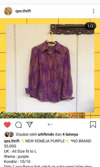 Kemeja purple jual murah