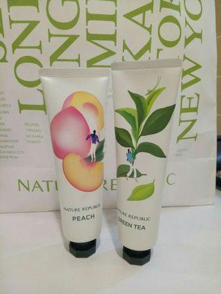 Hand Cream sisa Green tea big size Nature Republic
