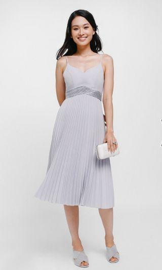 LB Hanea Pleated Midi Dress in Lilac