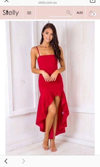 Stelly sweet about me dress in red