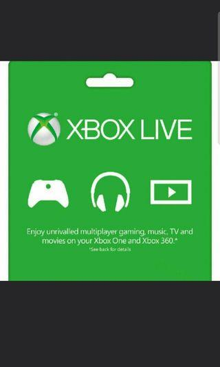 Xbox Live Gold 12 months Gift Card
