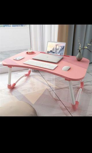Pink foldable laptop table