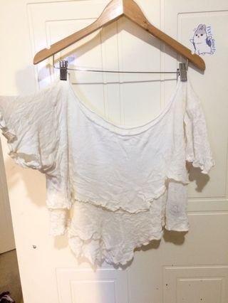 Off white layer festival off shoulder top S-M