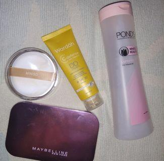 Maybelline, Wardah, Miniso, Ponds