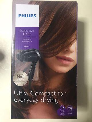 Philips compact hairdryer (NEW)