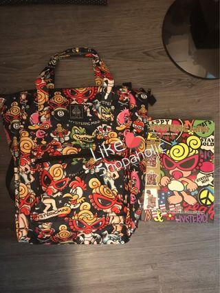 Hysteric Mini 限量版 背包 背囊 backpack 🎒 黑色 Bag 袋 日本雜誌 黑超B 奶咀B 代購 專門店 A4 size 書包