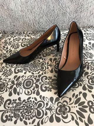 Zara black patent leather shoes
