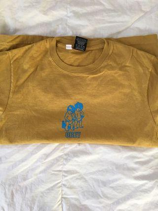 Obey yellow/Mustard Graphic Tee