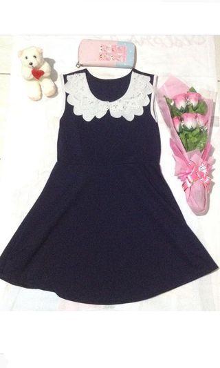 dress vintage tanpa lengan