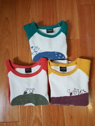 [二手童裝] 3件合售價. 韓國童裝品牌 長袖上衣